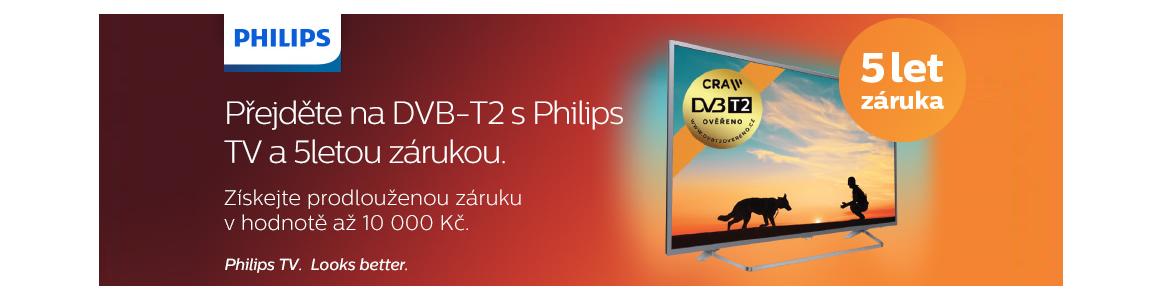 Záruka 5let k vybraným televizorům Philips